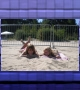 me and my friend at the beach, Jurmala