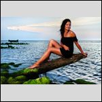 The model: Laura, by the Latvian seaside