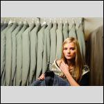 The model: Laine Ozola