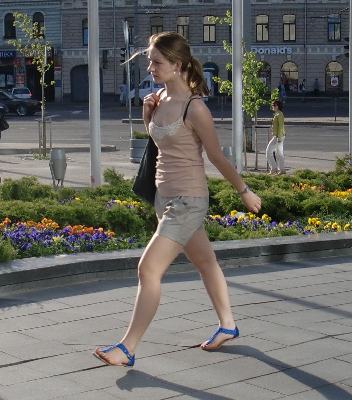 Latvian girls on Riga Summer streets 2011