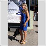 An astonishing cute blonde in blue